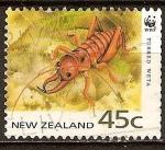 Sellos del Mundo : Oceania : Nueva_Zelanda : Conservación de Especies Amenazadas. Colmillos weta.