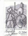 Stamps Spain -  IV centenario don quijote de la mancha