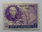 Stamps : Europe : San_Marino :  Muestra de la feria de Trieste en 1952.
