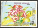 Sellos de Africa - Guinea Ecuatorial -  flor clivia miniata