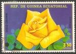 Sellos de Africa - Guinea Ecuatorial -  flor gold crown