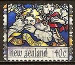 Sellos del Mundo : Oceania : Nueva_Zelanda : Los ángeles con trompetas .