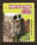 Sellos del Mundo : Oceania : Nueva_Zelanda : Buzones curiosos-Búho.
