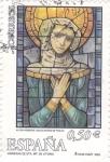 Stamps Spain -  vidrieras de sta maria de victoria