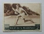 Stamps : Europe : San_Marino :  Jugador de Tenis.