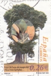 Stamps Spain -  ficus de hojas de magnolia