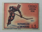 Stamps : Europe : San_Marino :  Hockey sobre Hielo.
