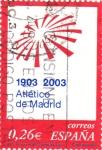 Sellos de Europa - España -  centenario del club Atletico de Madrid