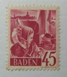 Stamps : Europe : Germany :  Muchacha de Constance.