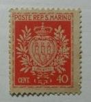 Stamps Europe - San Marino -  Escudo de Armas. San Marino.