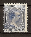 Stamps America - Puero Rico -  Alfonso XIII .