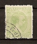 Stamps America - Puero Rico -  Alfonso XIII.