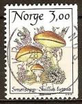 Sellos del Mundo : Europa : Noruega : Hongos. La mantequilla de setas (Suillus luteus)