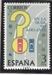 Sellos de Europa - España -  Seguridad vial - En la duda no adelante