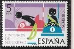Sellos del Mundo : Europa : España : Seguridad vial - Cinturon de seguridad