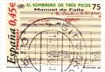 Stamps Spain -  el sombrero de tres picos-manuel de falla