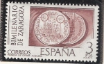 Sellos del Mundo : Europa : España : Reverso de Moneda, César Augusta