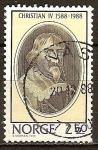 Sellos de Europa - Noruega -  Rey Christian IV.
