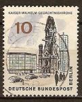 Sellos del Mundo : Europa : Alemania : Berín.Iglesia Memorial Kaiser Wilhelm.