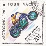 Sellos de Asia - Mongolia -  Motoring-1981