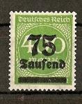 Sellos de Europa - Alemania -  Inflaccion Alemana.
