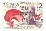 Stamps Spain -  Simon Bolivar