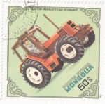 Stamps Mongolia -  tractor -renault-tx 145  Francia