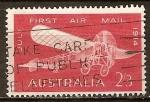 Sellos del Mundo : Oceania : Australia : 50a Aniv de la primera australiana Vuelo aéreo.Bleriot XI volado por Maurice Guillaux,1914.