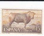 Sellos de Europa - España -  fiesta nacional: tauromáquia- toro de lidia