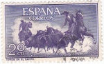 Sellos de Europa - España -  fiesta nacional: tauromáquia toros en el campo