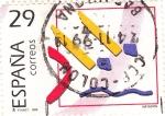Stamps Spain -  centenario del coi -deportes- natación