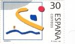 Stamps Spain -  deportes olímpicos de Plata-waterpolo