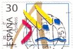 Sellos de Europa - España -  deportes olímpicos de Bronce- natación