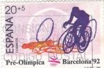 Sellos de Europa - España -  Pre-olímpica Barcelona 92 - ciclismo