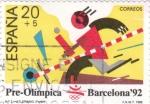 Sellos de Europa - España -  Pre-olímpica Barcelona 92 -atletismo