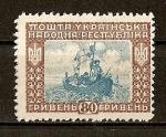 Stamps Ukraine -  Revolucionarios en barca.