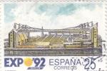 Sellos de Europa - España -  EXPO 92 - auditorio