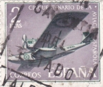 Stamps Spain -  centenario de la aviación española-hidroavión