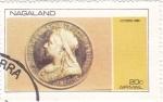 Sellos del Mundo : Asia : Nagaland : moneda- victoria 1893