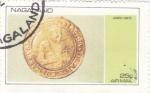 Stamps Asia - Nagaland -  moneda-james i unite