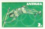 Sellos de America - Antigua y Barbuda -  juegos olimpicos montreal-canada 1976-salto de pertiga