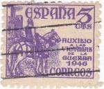 Stamps Spain -  Pro-victimas de la guerra 1946