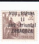 Stamps Europe - Spain -  el Cid-  VIVA ESPAÑA  II  año triunfal ZARAGOZA
