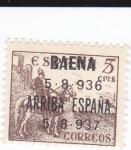 Stamps Spain -  el Cid- BAENA 5-8-936 ARRIBA ESPAÑA 5-8-937