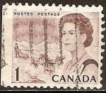 Sellos de America - Canadá -  La Reina Isabel II y el equipo de perros.