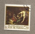 Stamps Romania -  Cuadro de Oudry