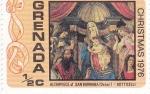 Sellos de America - Granada -  christmas 1976-botticelli