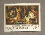 Stamps Romania -  Cuadro de F. Snyders