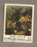 Stamps Romania -  Cuadro de J. Fyt