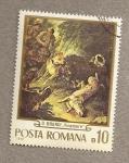 Stamps Romania -  cuadro de O. Brandi